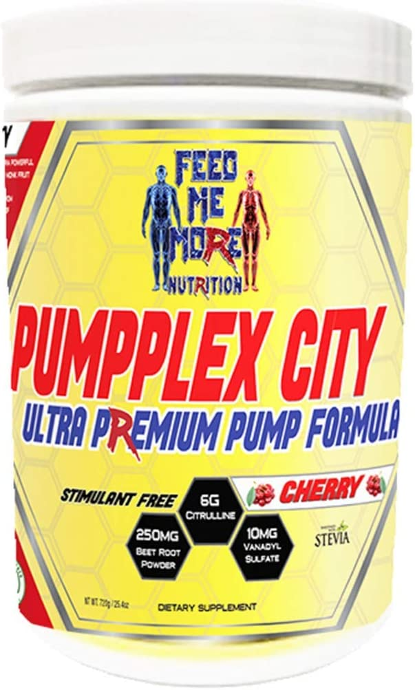PumpPlex City Ultra Premium Pump Formula Sweetened with Stevia Monk Fruit No Artificial Sweeteners or Colors