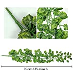 ReachTop-Artificial-Ivy-Leaves-Garland-90cm-35inch-Office-Greenery-Fake-Silk-Watermelon-Leaves-Foliage-Hanging-Vine-Plant-for-Home-Fence-Wedding-Party-Garden-Wall-Decoration