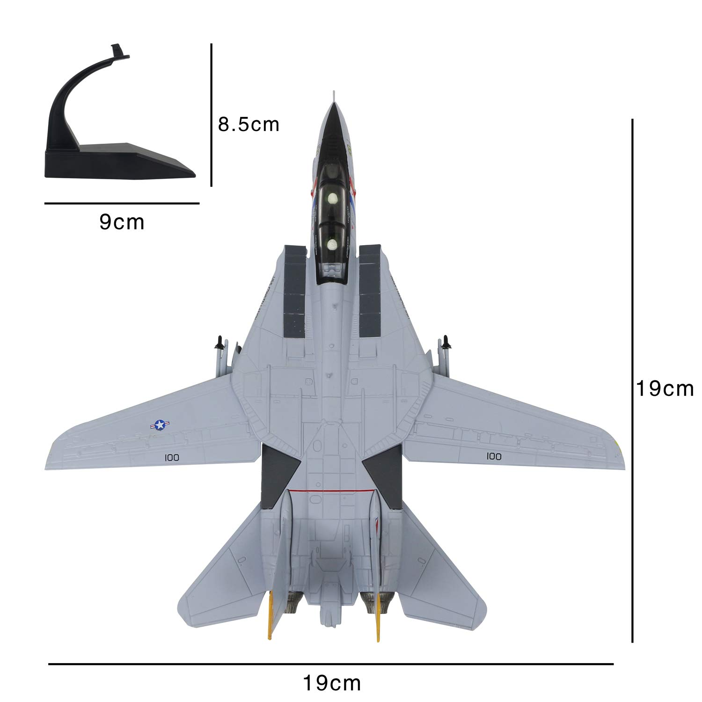 Lose/Fun/Park 1:100 Modello di Aereo Militare F-14 Tomcat Diescast Fighter Modello di Aereo da Caccia in Lega