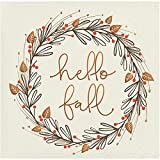 Hello Fall Holiday Thanksgiving Party Paper Napkins Beverage Size Pk 48