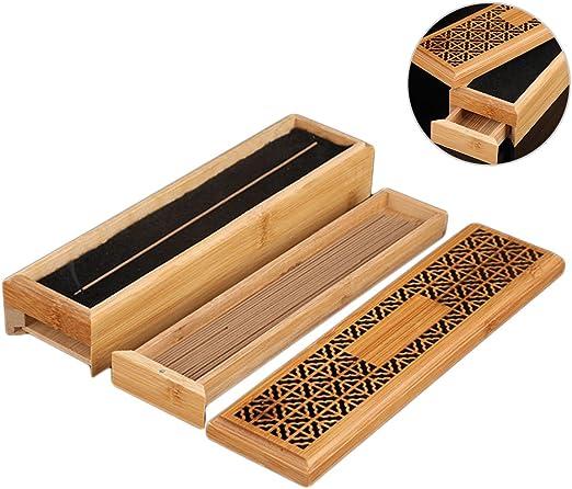 Gorgebuy Caja de incienso de madera de doble capa Incienso ...