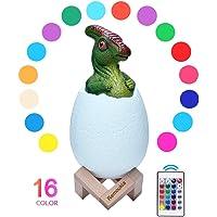Remoukia Dinosaur Toys Egg Lamp Lights (Multiple Color)
