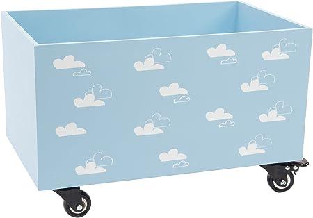 Item Caja Ordenación, Madera, Azul, 32x50x32 cm: Amazon.es: Hogar