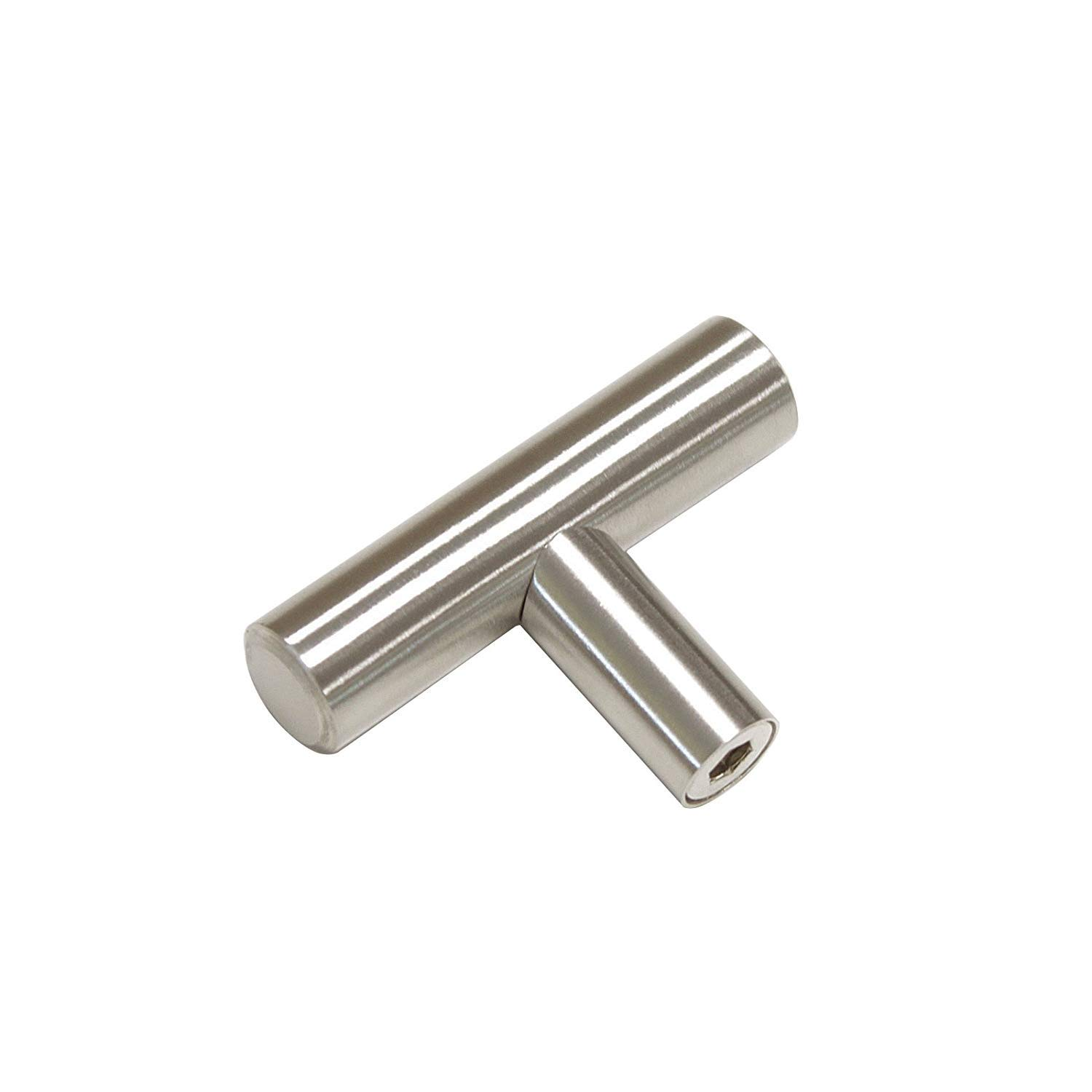 HD201SN Nickel Knobs for Dresser Drawers Metal Drawer Pulls and Knobs T Cabinet Knobs Cabinets Knobs homdiy Kitchen Cabinet Knobs Brushed Nickel 5 Pack Modern Cabinet Hardware Knobs