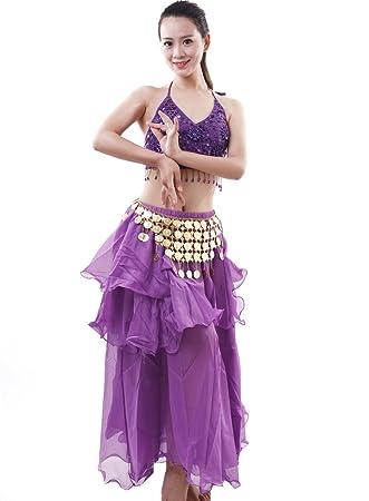 Astage Mujer Danza Disfraz Danza del Vientre Bra Falda Set ...