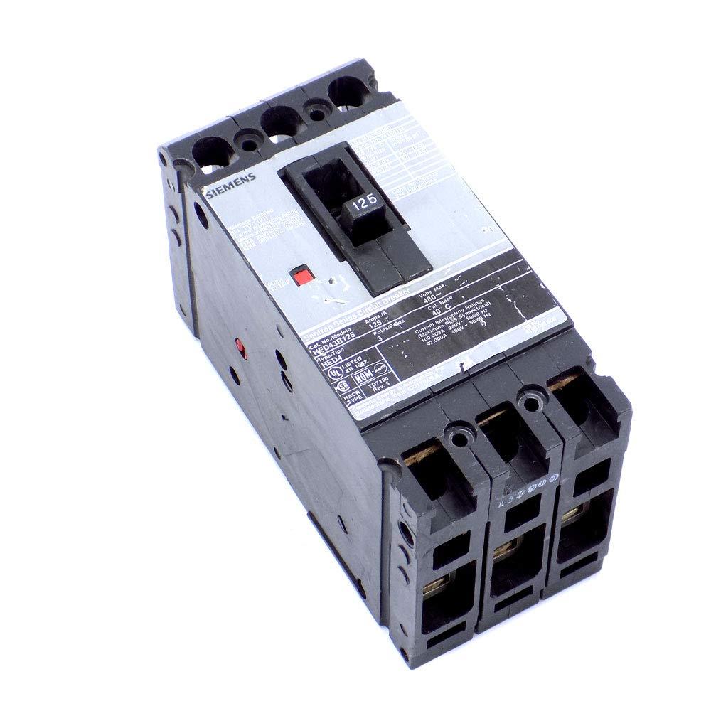 3 POLE 125 AMP 480 Circuit Breaker WARRANTY Siemens HED43B125