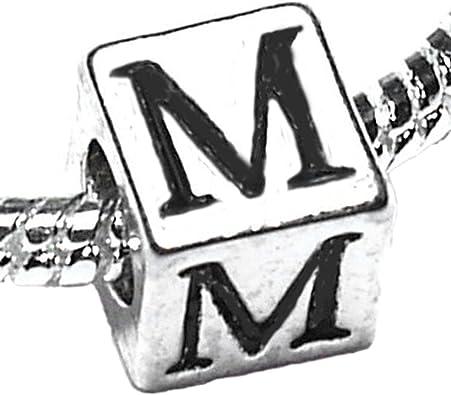charm pandora lettre m