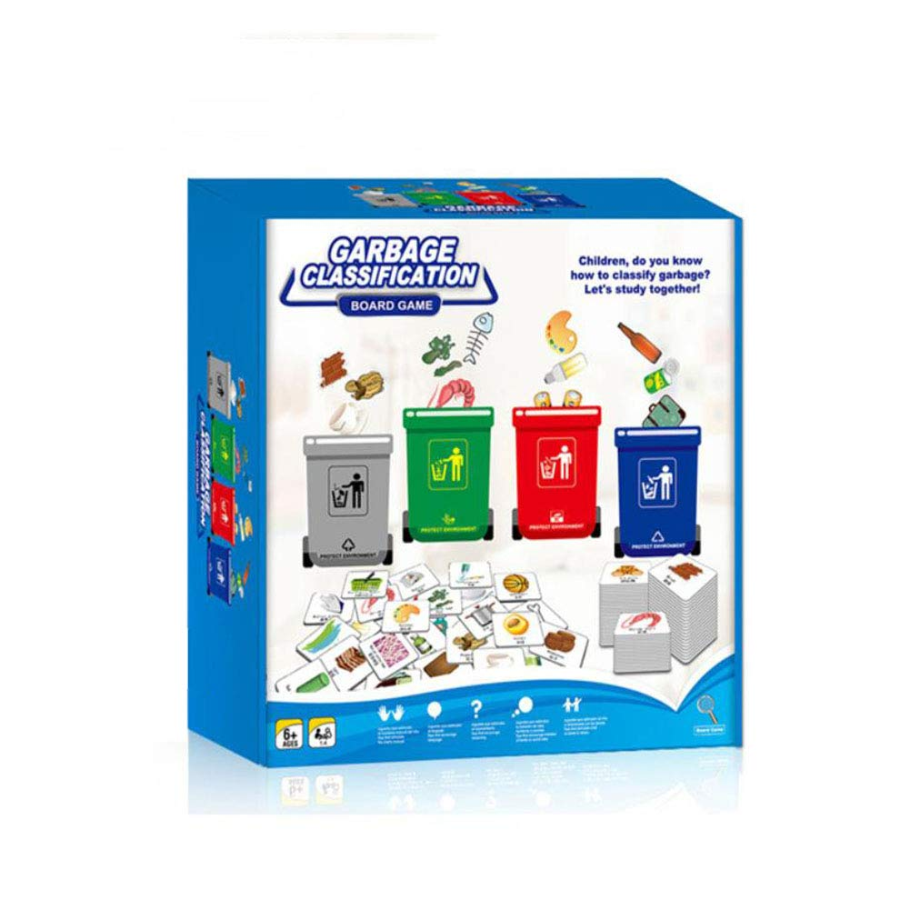 ANGLE Early Education Garbage Classification Children's Games Early Education Learning Puzzle Observation Parent-Child Interaction brainpower Big Combat Small Detective Toys Board Game Toys