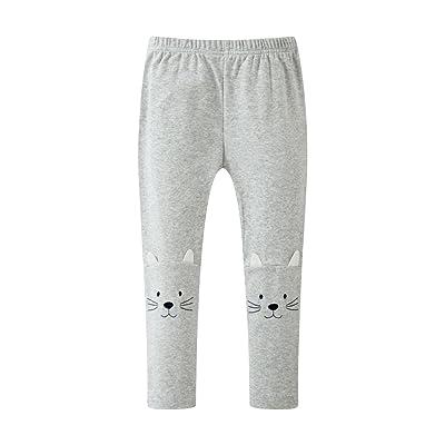 HUAER& Baby Girls Cotton Tight Leg Pants