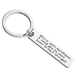 Storeholic Drive Safe Keychain I Love You Keychains for Boyfriend I Need You Key Chains Husband Father Key Chain -1Pcs