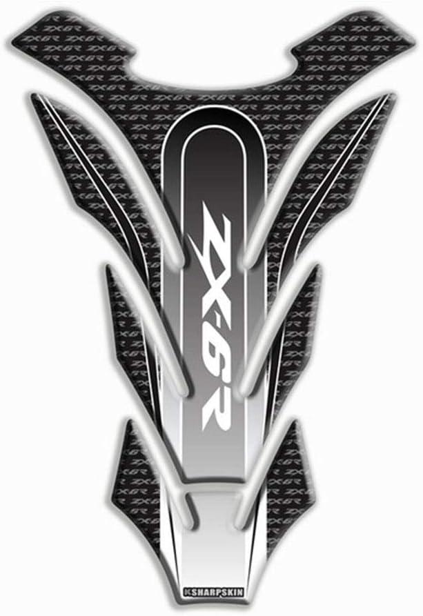 Psler Motorrad 3d Tankpad Aufkleber Für Kawasaki Zx 6r Schwarz Auto
