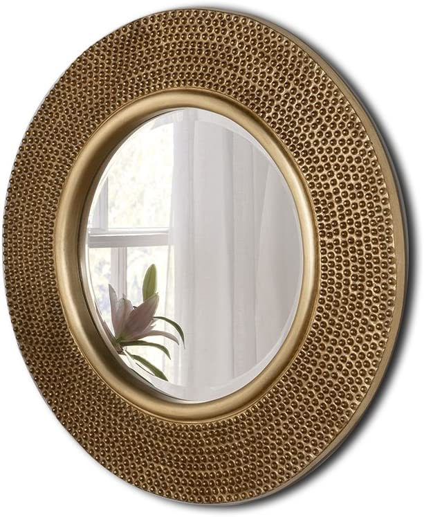 Barcelona Trading Rome Large Round New Wall Mirror Modern Gold Frame Art Deco Studded 31 Diam Amazon Co Uk Kitchen Home