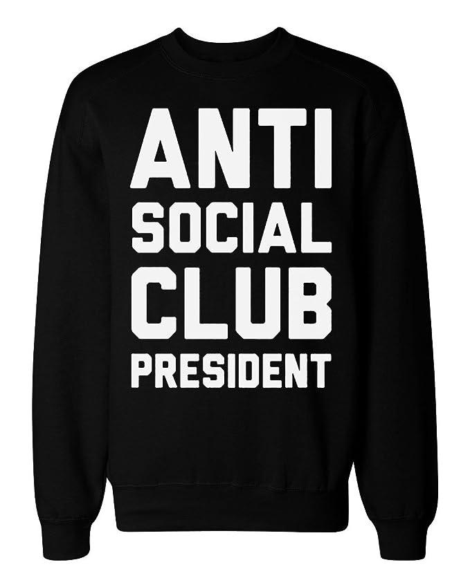 645d47d56bb8 idcommerce Anti Social Club President Men s Women s Unisex Sweatshirt at  Amazon Men s Clothing store