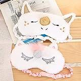4 Pack Unicorn Sleeping Sleep Mask Soft Plush