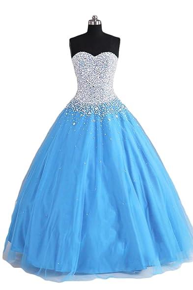 Luxury Beaded Ball Gown Quinceanera Dresses Vestidos de 15 Princesa