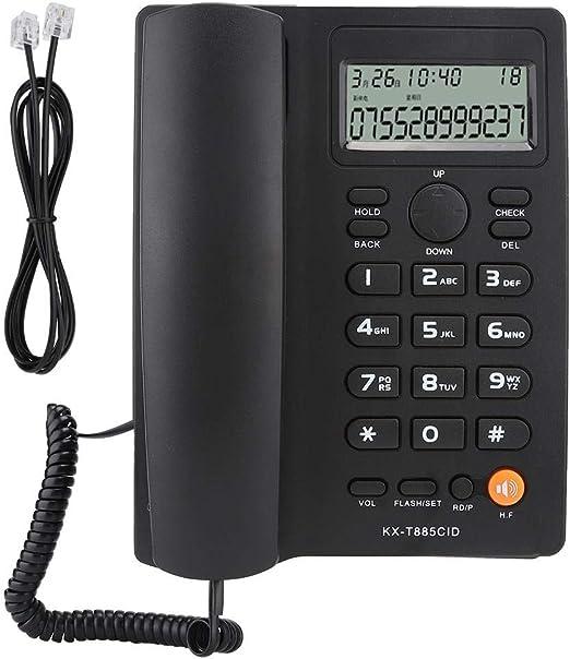 Big Button Mute-Funktion Telefon mit Anrufer-ID-Anzeige Pomya Schnurgebundenes Telefon Schwarz Keine Batterie