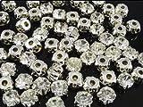 YAKA 288pcs Loose Crystal Sew on Rhinestone Beads Clothes Embellishment