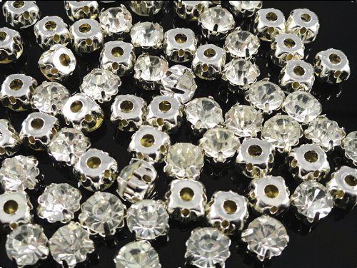 YAKA 288pcs Loose Crystal Sew on Rhinestone Beads Clothes Embellishment by YAKA