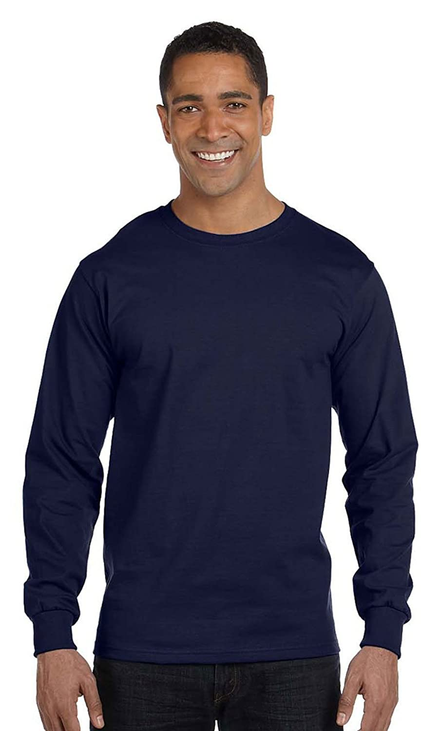 a094d2fd 85%OFF Hanes mens 6.1 oz. Long-Sleeve Beefy-T(5186)-NAVY-2XL - url ...
