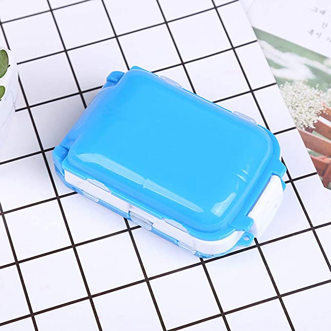 Portapillole a 3 strati 8 scomparti porta integratori Bodhi2000 porta pillole porta pillole portatile per uso quotidiano