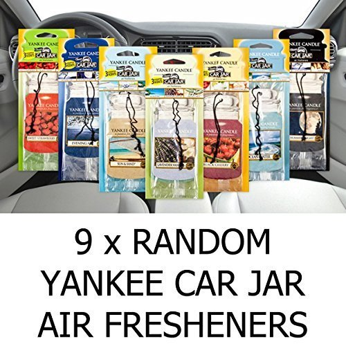 AMAZING VALUE PACK 9 x Assorted Yankee Candle Car Jar Air Hanging Air Fresheners by Yankee Candle - Pack Car Jars