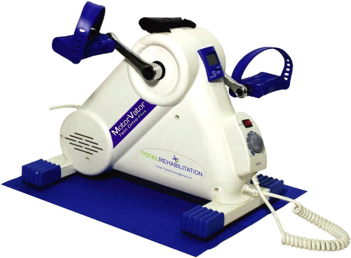 NUEVO - MotorVator Twin Drive Plus - por Total Rehabilitation - Mini bici de ejercicios con motor - Ejercicios sin estrés ni ruido en una silla - Mejor máquina de ejercicios de calidad para reforzar l