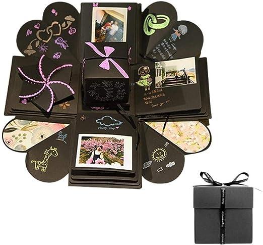 Álbum infantil Caja sorpresa sorpresa de regalo de bricolaje, caja de explosión sorpresa, álbum de fotos de bricolaje, álbum de recortes hecho a mano, cumpleaños, aniversario, San Valentín, regalo de: Amazon.es: Hogar