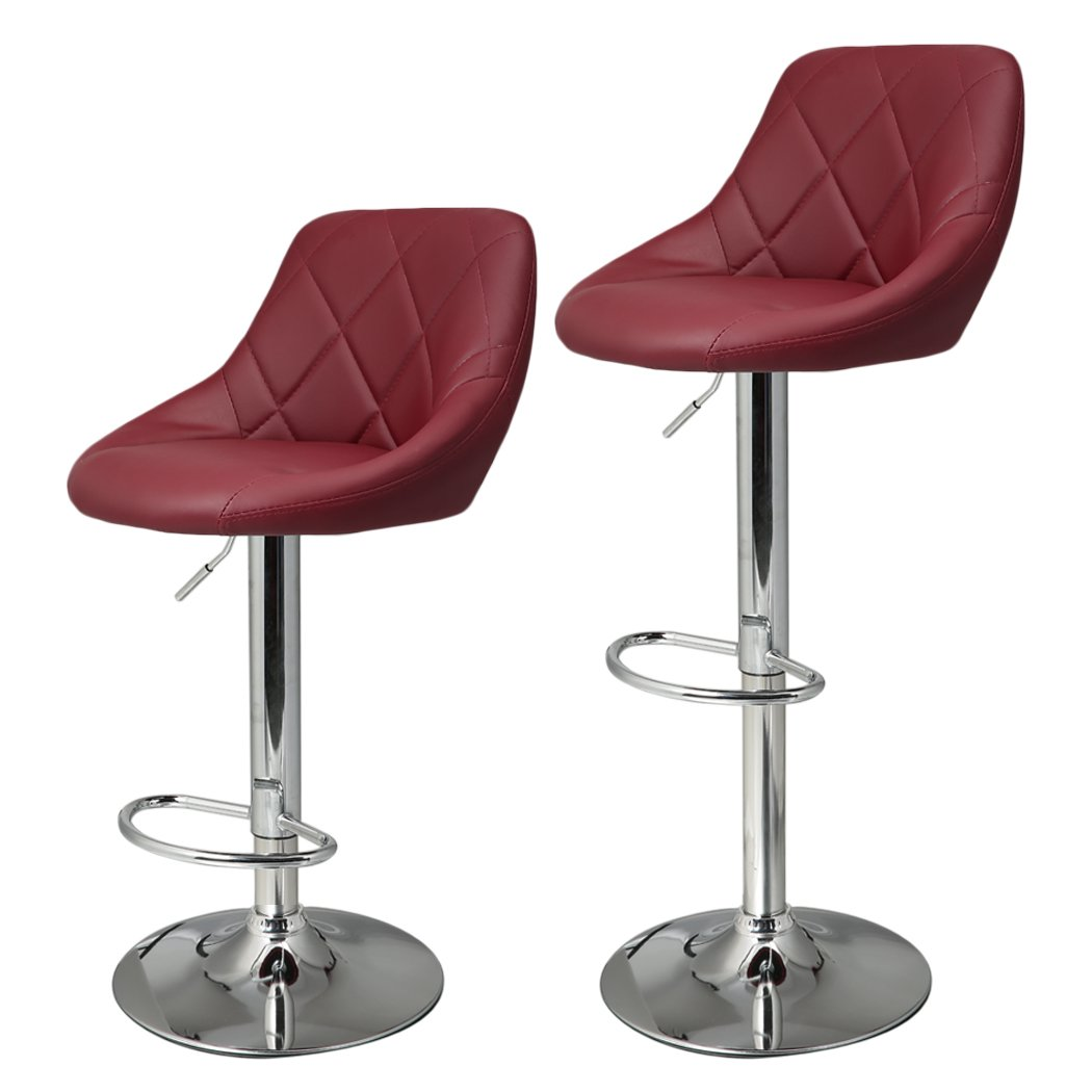 Homdox Bar Stools, Synthetic Leather Adjustable Swivel Bar Chairs ...