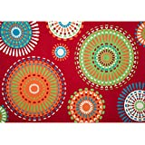 Christopher Knight Home Roxanne Mala Indoor/Outdoor Red Rug (5  x 8 )
