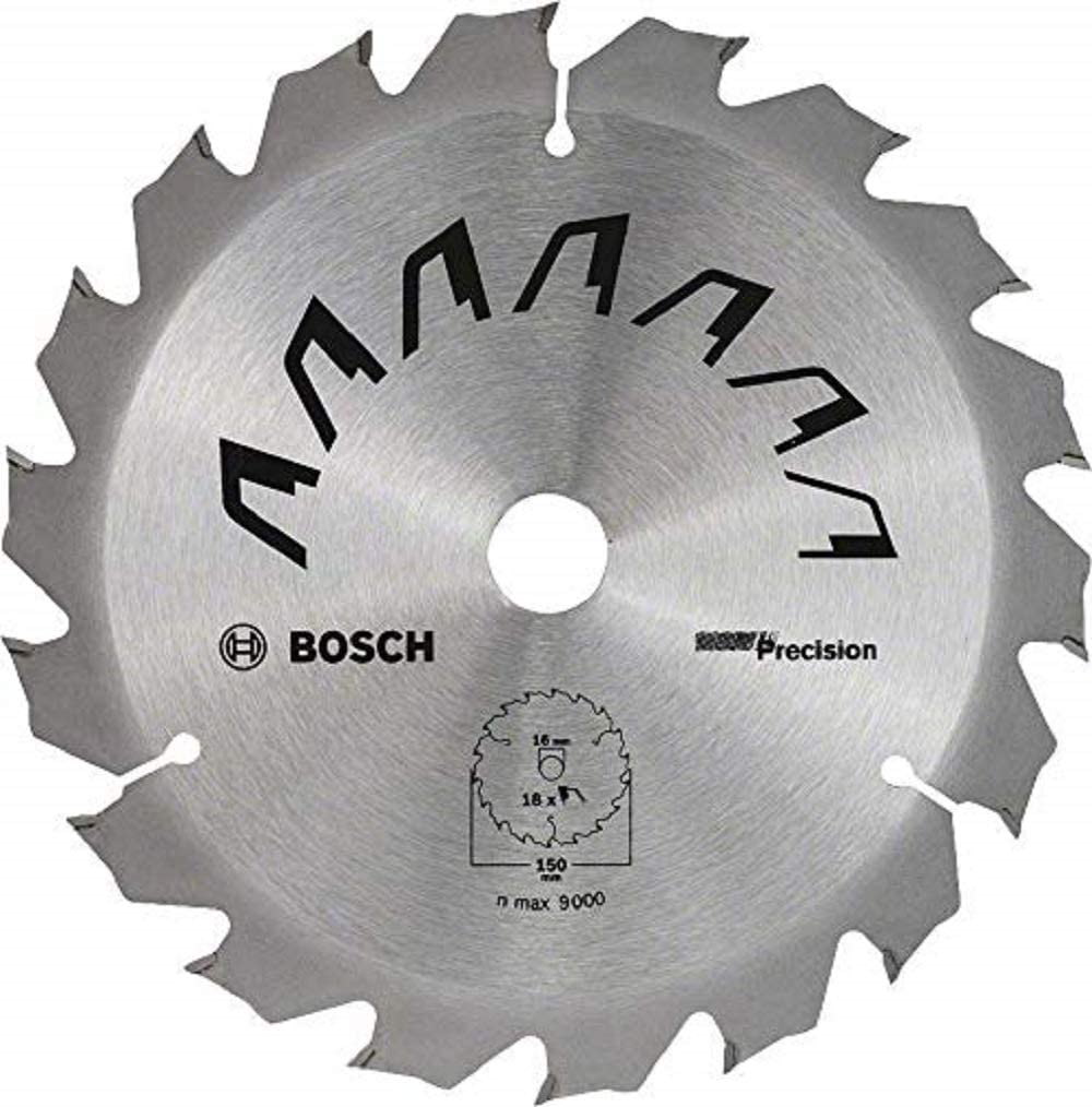 Bosch Home and Garden 2609256D62 Bosch Circular Saw Blade for Wood, Outer Diameter 150 mm, Bore 16 mm, Accessories for Circular Saw