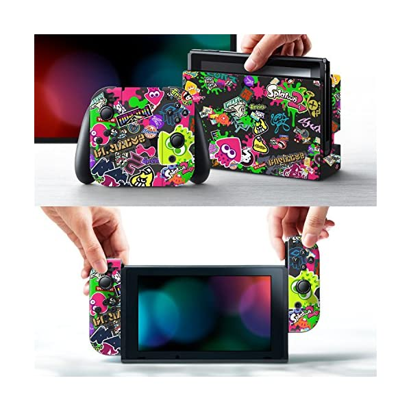 "Controller Gear Nintendo Switch Skin & Screen Protector Set, Officially Licensed By Nintendo - Splatoon 2 ""Stick Em' Up"" - Nintendo Switch 2"