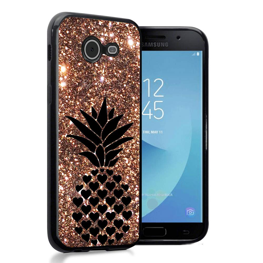 Glitter Pineapple Samsung Galaxy J5 2017 Black Best Ksp Kav 3 User Protective Slim Shockproof Glossy Soft Silicone Rubber Tpu Cover Phone Case For