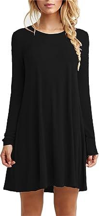 Black shirt dress amazon