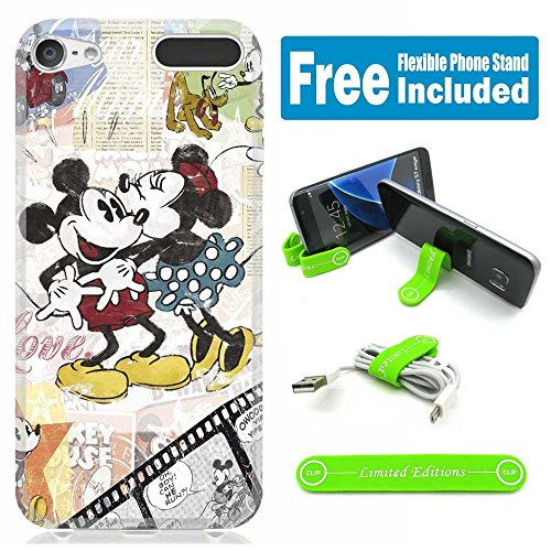 Apple iPod Touch 5th/6th Generation Case Cover Skin with Flexible Stand - Mickey Mouse Kissing