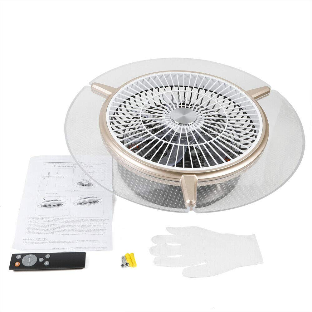 Jasemy Deckenventilator mit Beleuchtung Fan LED Licht ...