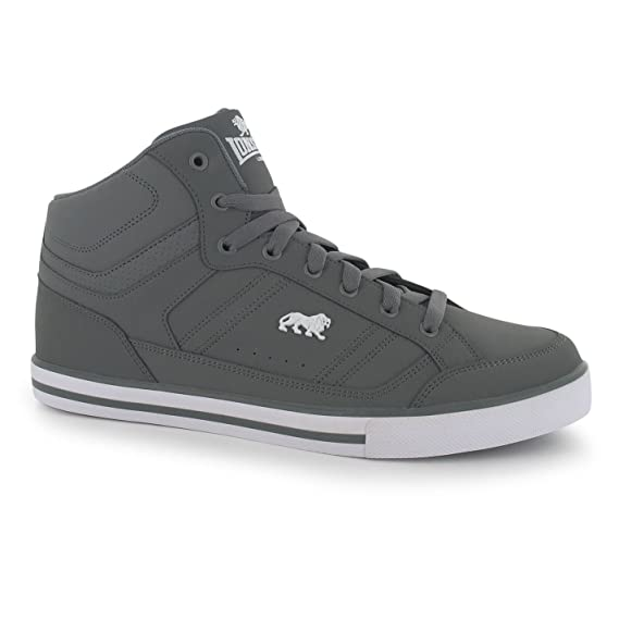 d8e52447a7c Lonsdale Mens Canons Hi Top Trainers Sneakers Sports Shoes Lace Up Casual  Logo