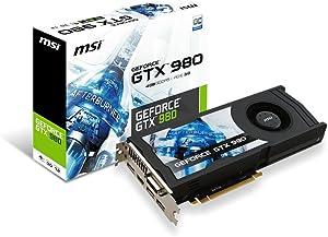 MSI Computer GeForce 4GB GDDR5 DVI/HDMI/3DisplayPorts PCI-Express Video Graphic Card GTX 980 4GD5 OCV1