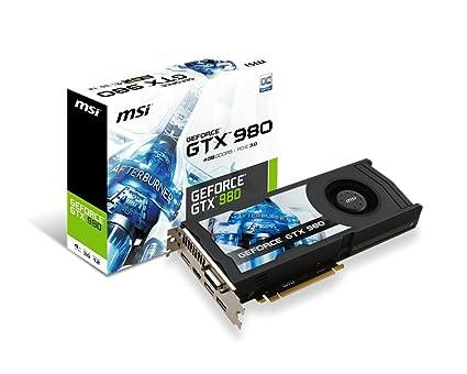 MSI GeForce GTX 980 - Tarjeta gráfica GeForce GTX 980 (ATX, HDMI, DL DVI-I, GDDR5, 64 M x 32 bit)