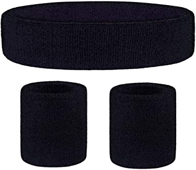 Amazon.com : Favofit Headband/Wristbands for Women Men Girls Boys for Gym  Workout & Yoga, 3 Piece Set, Super Comfy Sports Sweatbands for Football  Baseball Basketball Soccer Tennis, Sweat Out of Your Eyes