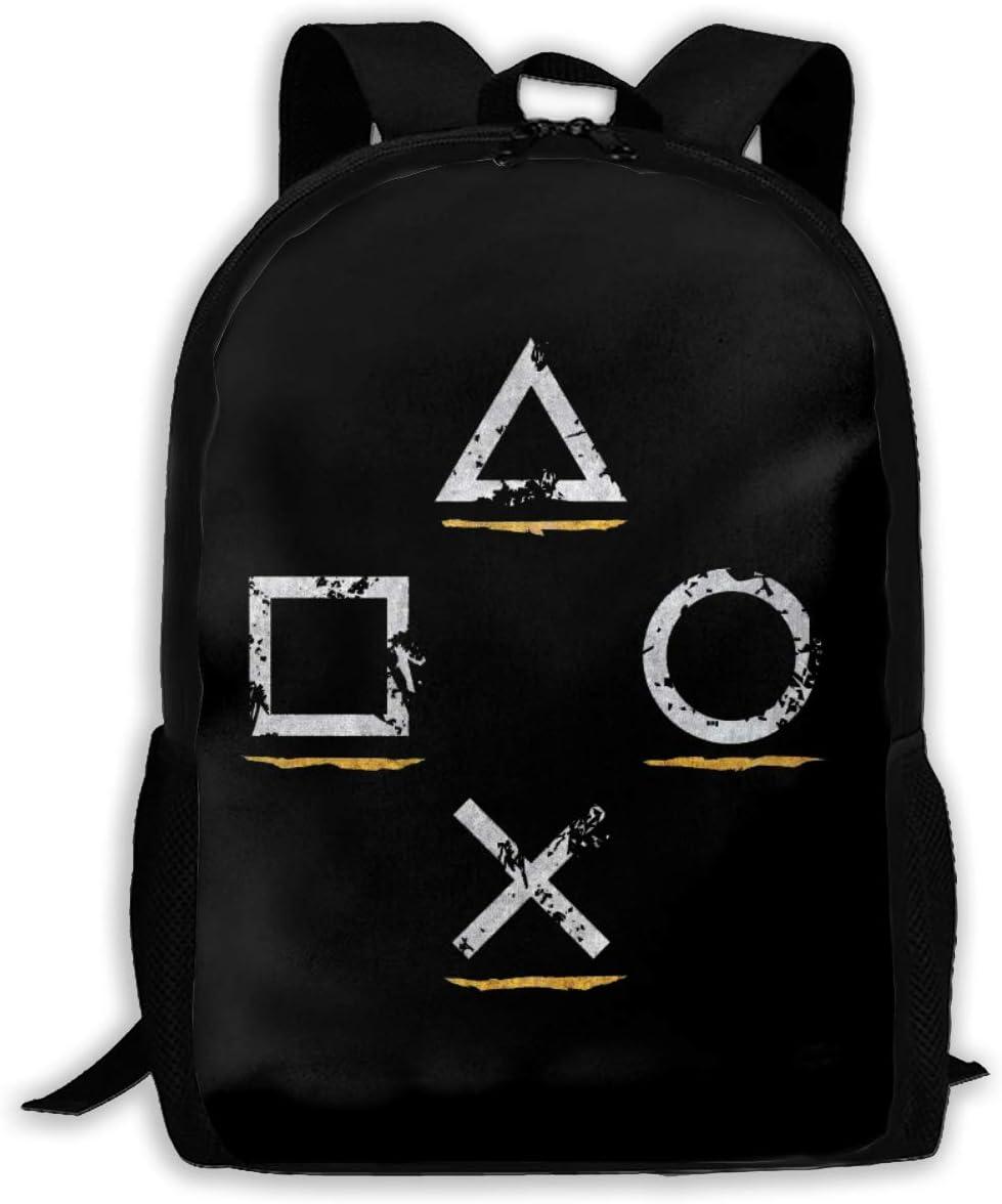 LSJGG mochila escolar para adultos, clásica, estilo Playstation Button Icons Uncharted, mochila de viaje ligera para la escuela: Amazon.es: Hogar