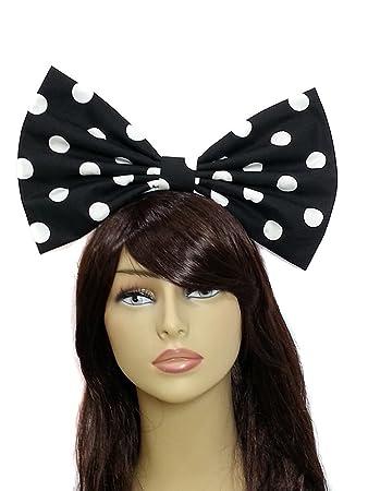 Black White Polka Dot Hair Clips Barrettes Rockabilly Pin Up Retro Girly Cute