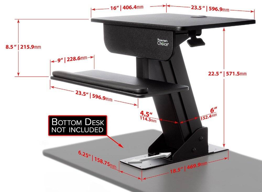 amazoncom choice adjustable height gas spring easy lift standing desk sitstand up desk computer workstation computers u0026 accessories
