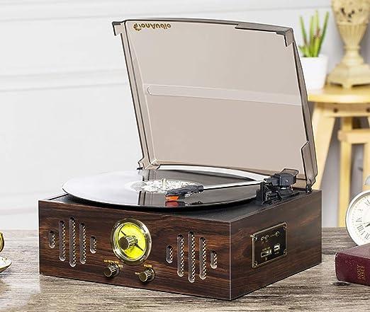 Cpjac Tocadiscos Gramófono, giradiscos estéreo de Alta ...