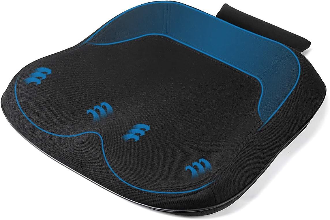 MonTrüe Cojín de Asiento para Coche, Espuma de Memoria Premium, una excelente opción para automóviles, sillas de Oficina y Uso en el hogar
