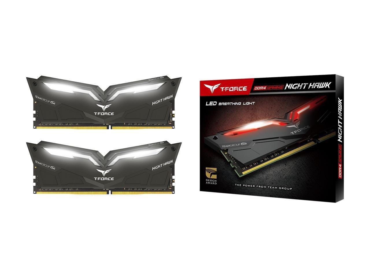 Team T-Force/Night Hawk 16GB (2 x 8GB) 288-Pin DDR4 SDRAM DDR4 3000 (PC4 24000) Memory Model THWD416G3000HC16CDC01