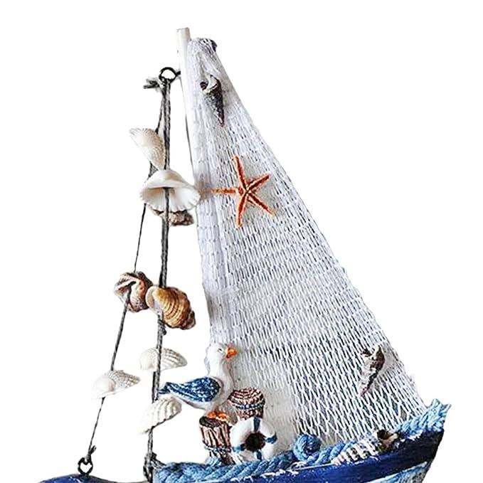 Kesoto 3 st ck holz segelschiff deko maritim dekoartikel meer schiff boot weihnachtsfeiertage - Dekoartikel meer ...