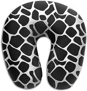 jinhua19 maternité et Corps Memory Foam Neck Pillow Cow Pattern U-Shape Travel Pillow Ergonomic Contoured Design Washable Cover for Airplane Train Car Bus Office Oreillers Camping