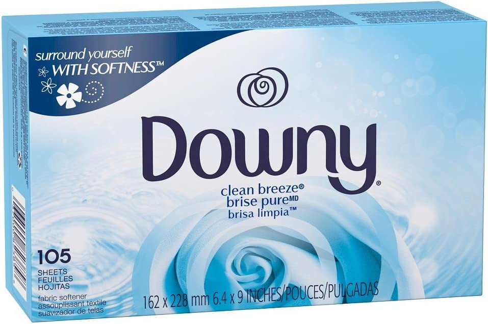 Amazon Com Downy Clean Breeze Fabric Softener Sheets 105ct