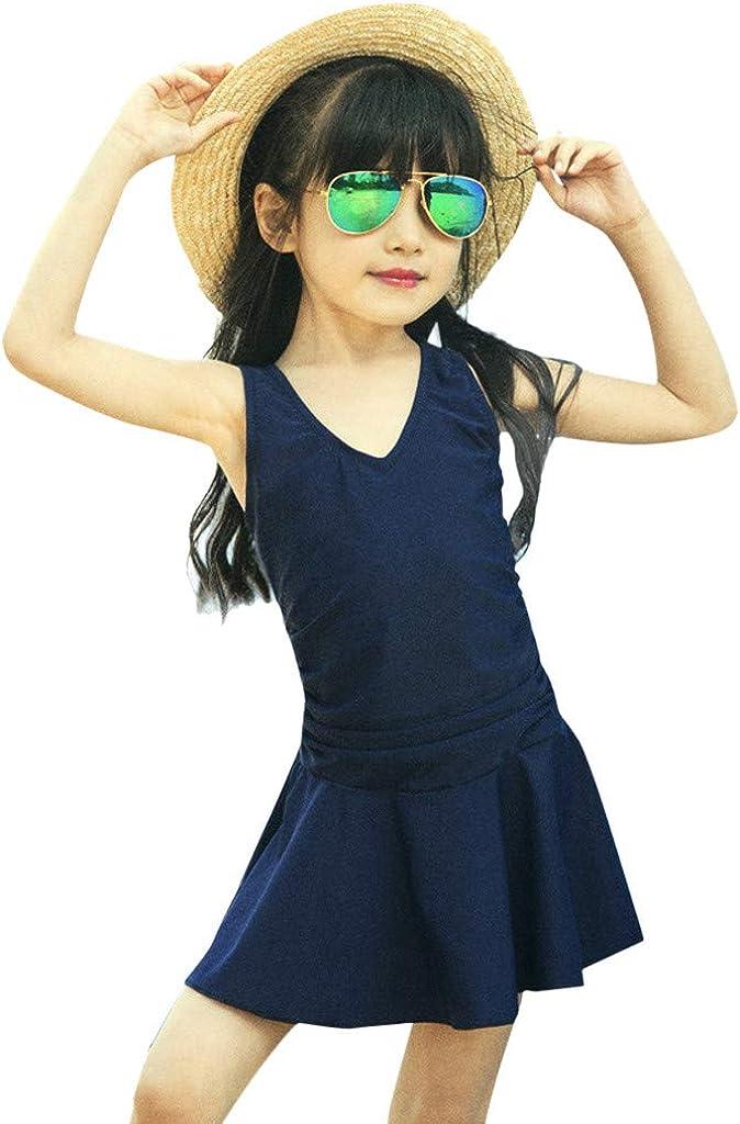 TUEMOS Toddler Baby Girls Three Piece Swimwear Cute Polka Dot Swimming Costume Sleeveless Ruffle Top and Mini Shorts Bathing Swimdress