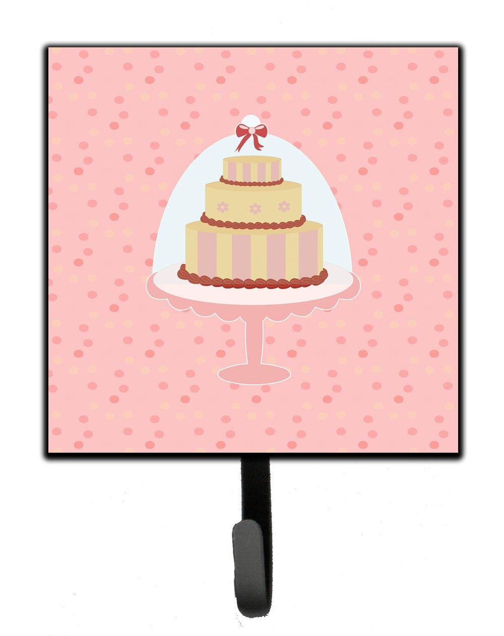 Carolines Treasures Decorative Cake 3 Tier Pink Wall Hook Small Multicolor